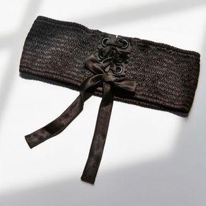 UO Sophia Satin Corset Belt